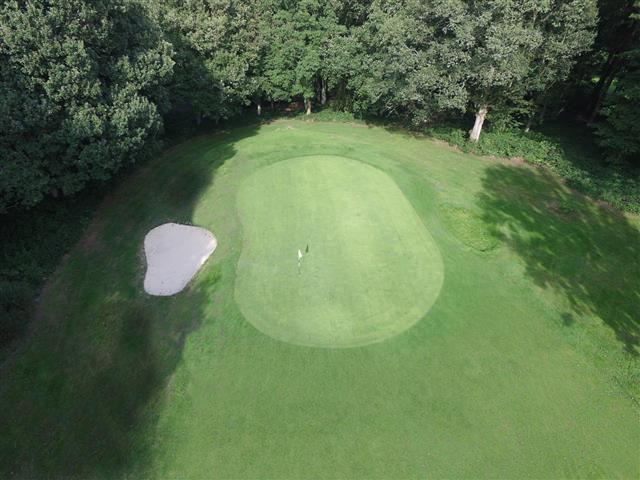 Arial view of 7th green